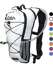 Andes - Sac à dos avec poche à eau - pour cyclisme/course à pied - poche à eau de 2 L
