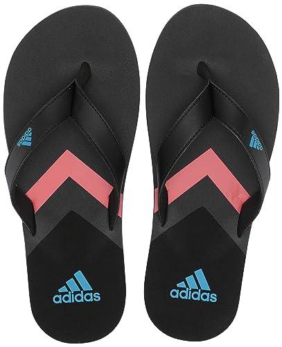 edecd2c87 adidas Men's Eezay Flip Flop, Black/Shock Cyan/Grey 5 ...