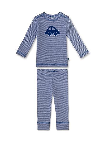 Sanetta 221300, Conjuntos de Pijama Unisex bebé, Azul (Atlas), 80 cm