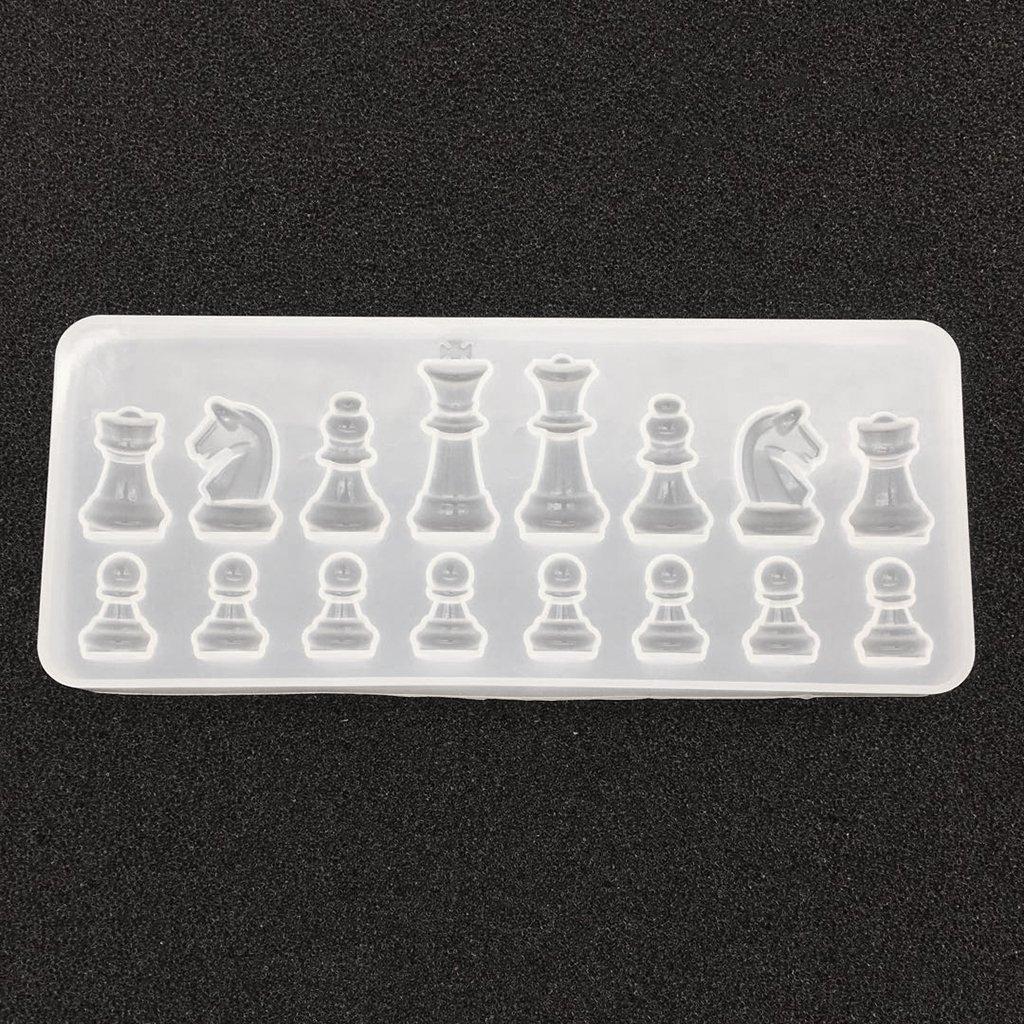 Baoblaze Moule De Moule D/échecs En Cristal De Silicone Pour La Fabrication De Bijoux Dornement De Moulage De R/ésine