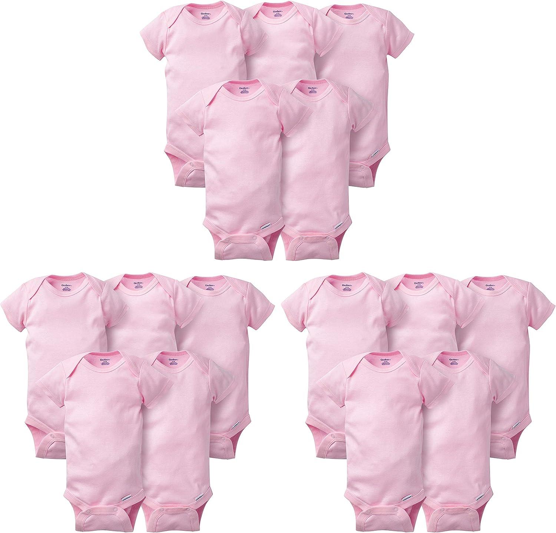 Gerber unisex-baby 15 Piece Onesies Bodysuit Multi Pack