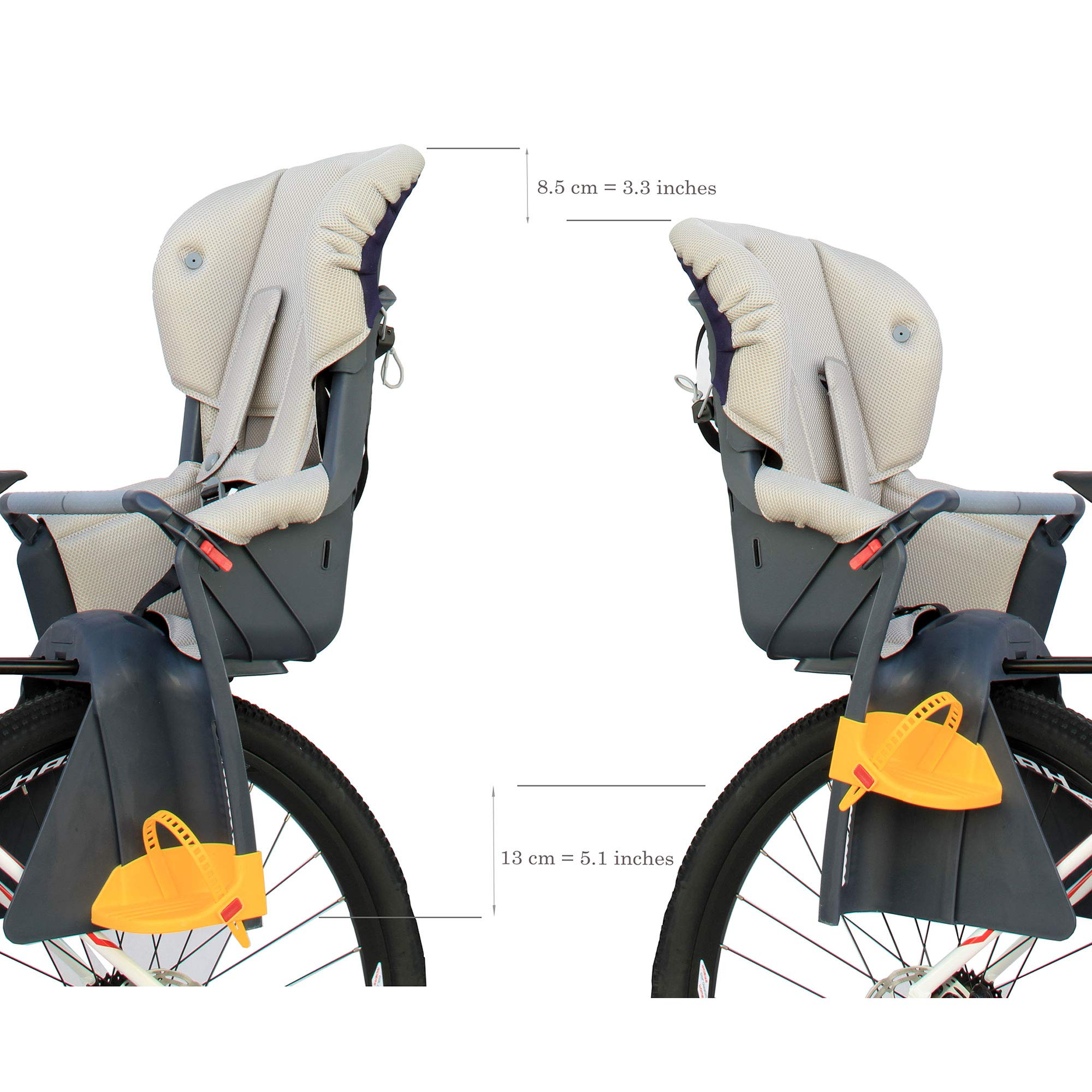 75586811f54 CyclingDeal Bicycle Kids Child Rear Baby Seat Bike Carrier USA Standard  with Adjustable Seat Rest Height - BQ-11   Child Seats   Sports   Outdoors  - tibs