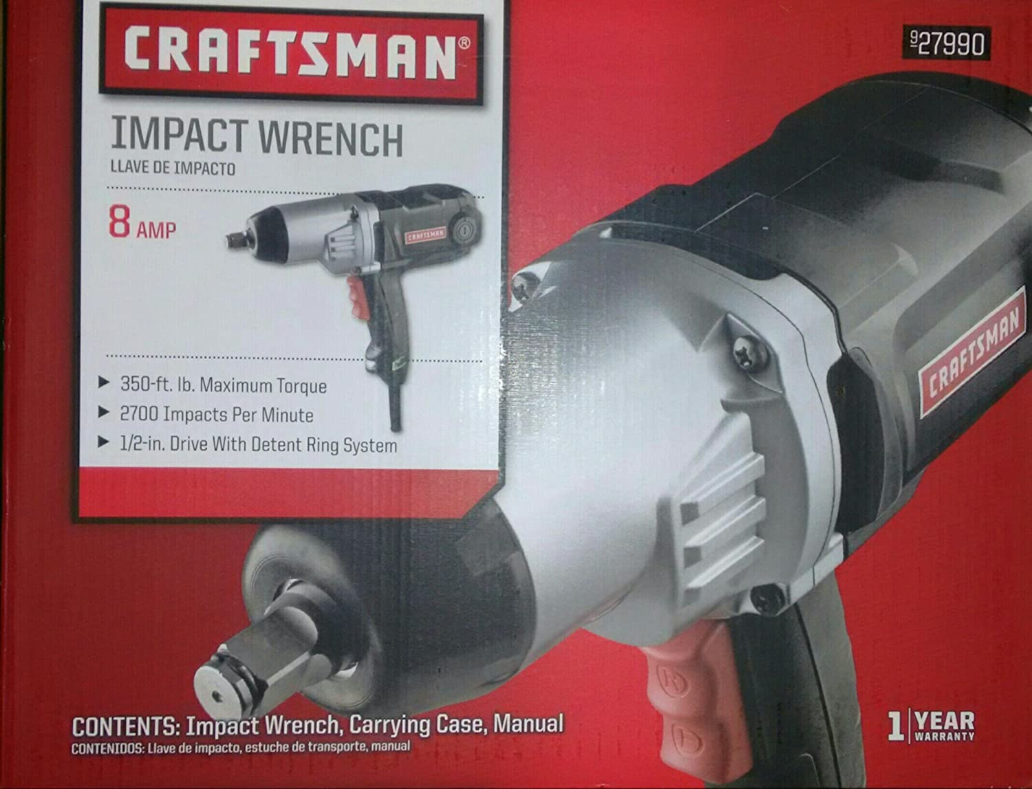 amazon com craftsman 8 amp impact wrench home improvement rh amazon com sears manual impact driver how to use a craftsman manual impact driver