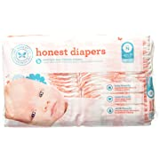 The Honest Company - Eco-Friendly and Premium Disposable Diapers - Giraffe, Newborn Size (<10lbs.) 40 Ct.