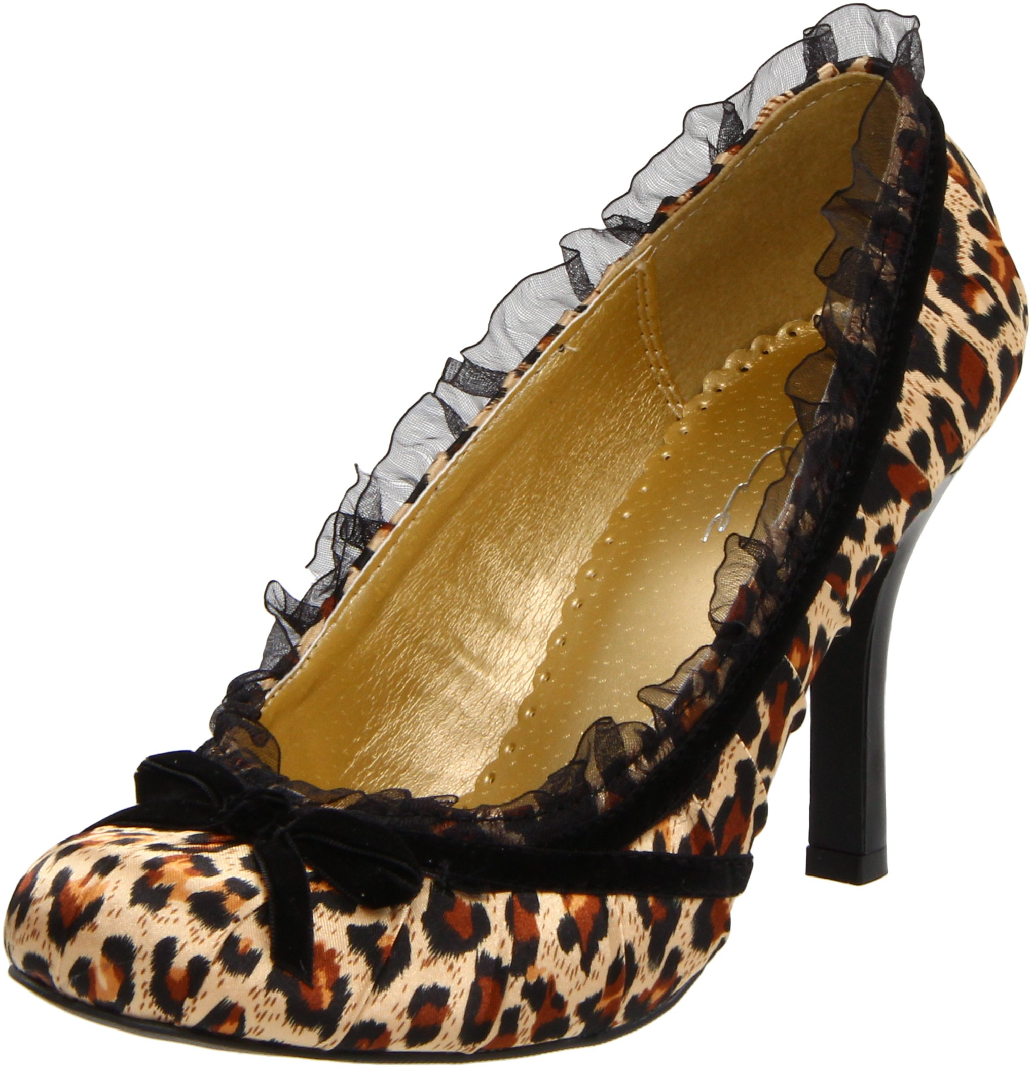 Ellie Shoes Women's 406-Doll Pump,Leopard,11 M US