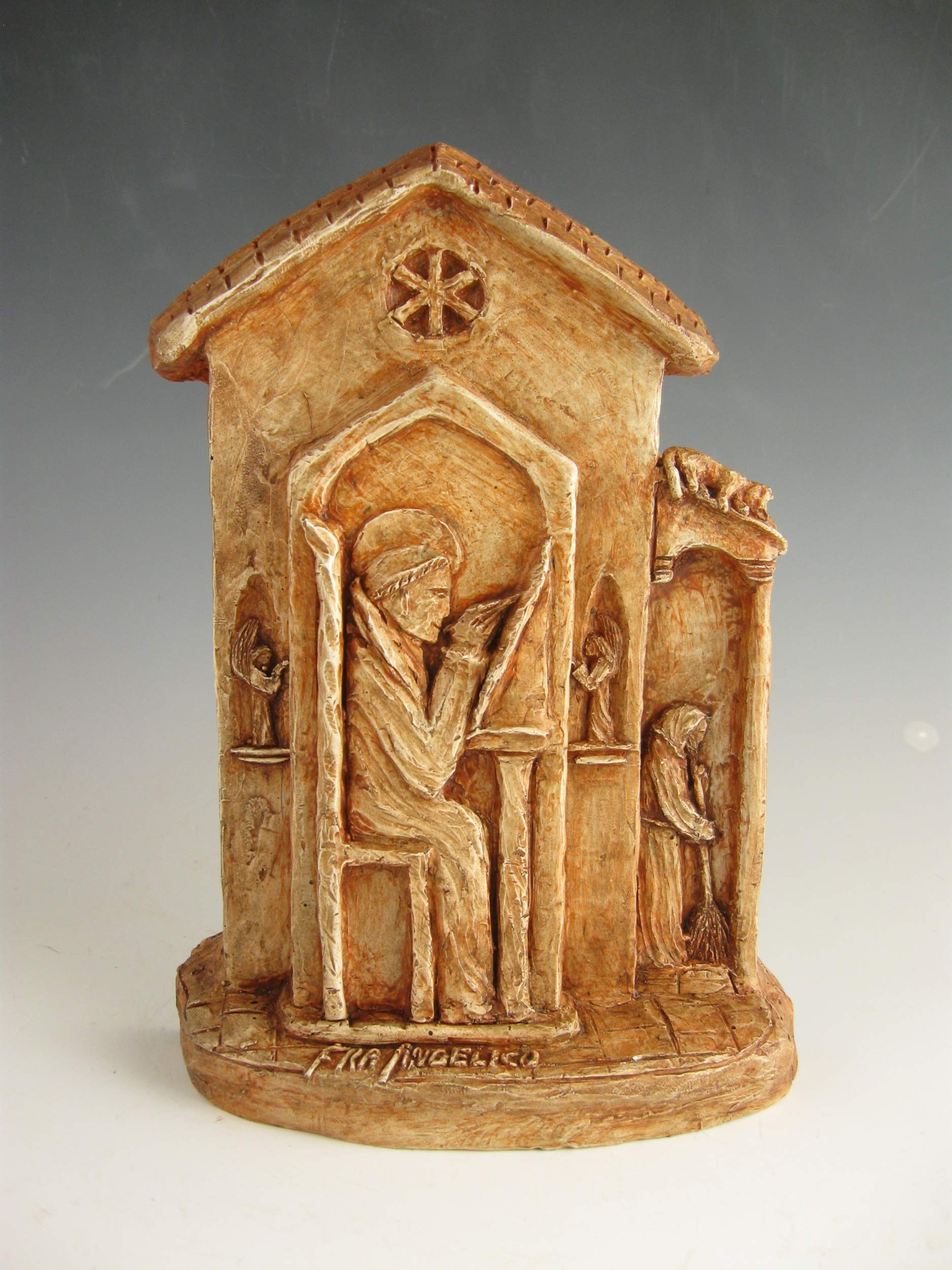 Handmade Statue of Fra Angelico: Patron of Artists, Painters, Sculptors