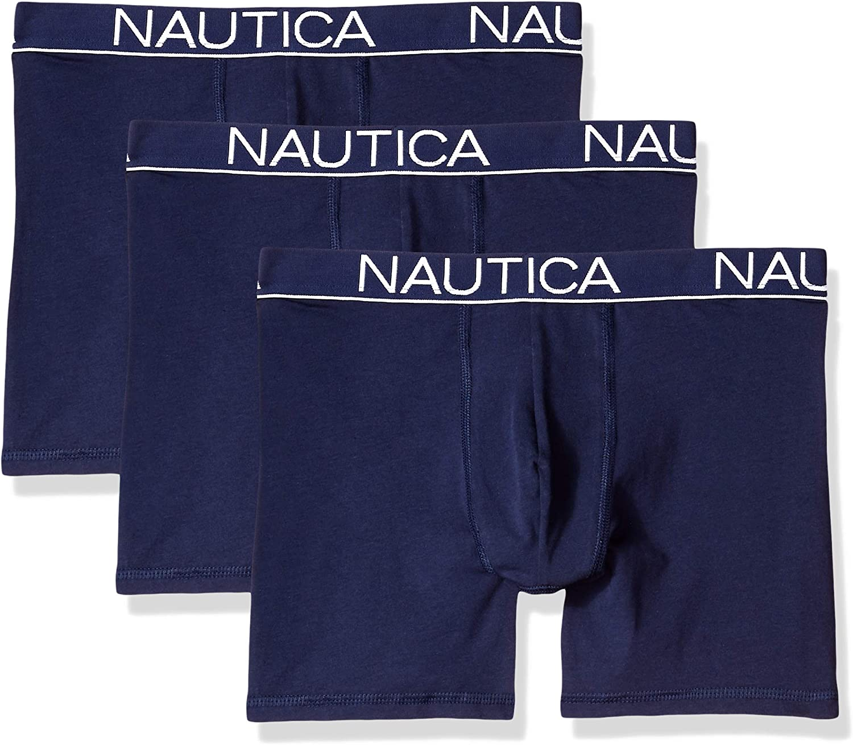 Nautica Men's Cotton Stretch Classic Boxer Brief Multipack