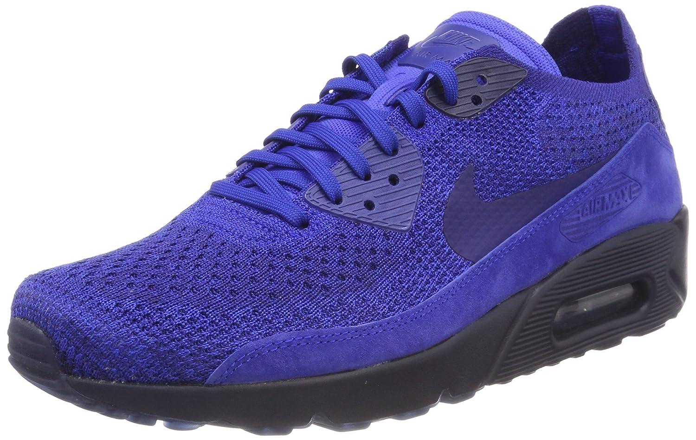 Nike Air MAX 90 Ultra 2.0 Flyknit, Zapatillas para Hombre 43 EU|Azul (Racer Blue/Deep Royal Blue-college Navy 402)