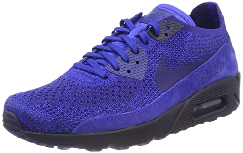 big sale 0184c 48b28 Nike Air MAX 90 Ultra 2.0 Flyknit, Zapatillas para Hombre, Azul (Racer Deep  Royal Blue-College Navy 402), 40.5 EU  Amazon.es  Zapatos y complementos