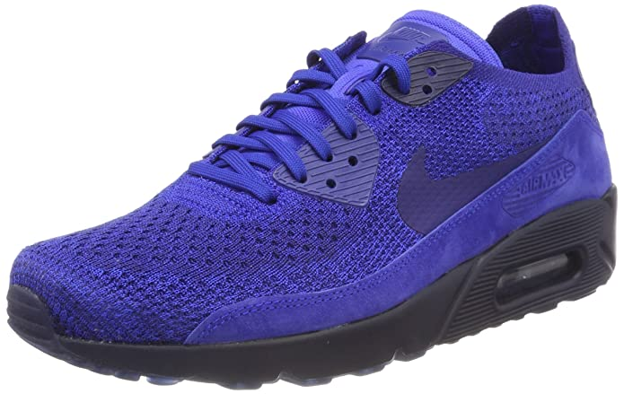 a088db5718457 Nike Men's Air Max 90 Ultra 2.0 Flyknit Racer Blue 875943-402 (Size: 9)