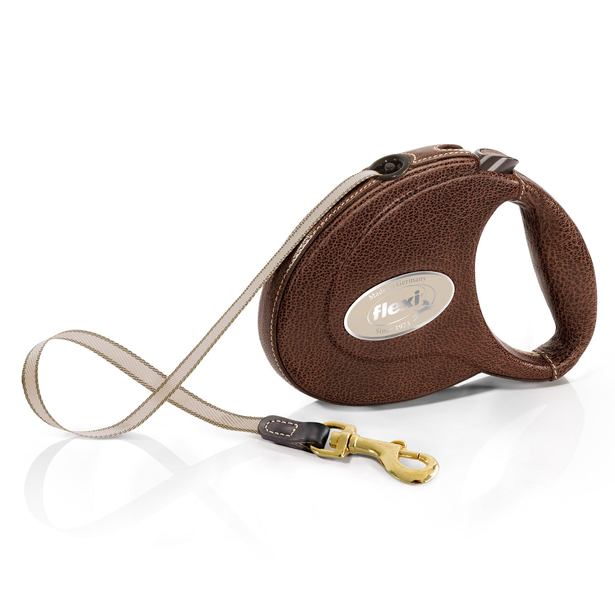 Flexi ELG.210.DB LED.12 Leather Tape 5 m, Medium, Brown