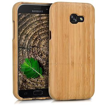 kwmobile Funda para Samsung Galaxy A5 (2017) - Carcasa Protectora de [bambú] para móvil - Case [Duro] en [marrón Claro]