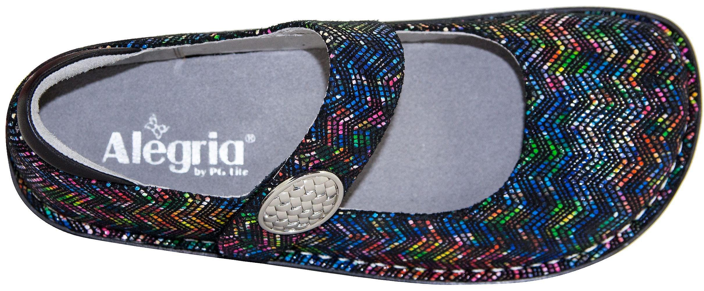 Alegria Womens Paloma Mary Jane, RIC Rack Rainbow, Size 39 EU (9 M US Women)
