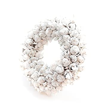 gefertigt aus Kokos-Fr/üchten Naturkranz Deko-Kranz gro/ß /Ø 35cm in white wash T/ürkranz zum h/ängen oder als Tischdekoration im Shabby chic Design zeitloses Wohnaccessoires als Natur-Deco Glask/önig