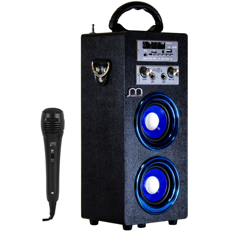 Altavoz Karaoke con Micrófono bluetooth Portátil inalámbrico nuevo modelo modo musica POP/ROK/NORMAL Lector USB control remoto,Smartphones Android Music Life