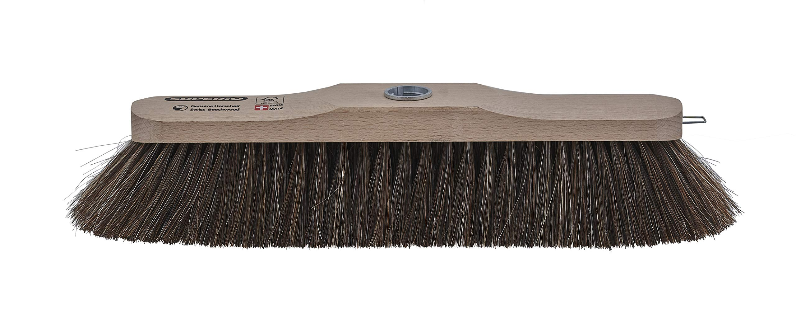 Superio - Premium Horsehair Broom with Beach Wood Brush Head | Features Metal Multi Position Handle (53'' Long) | Premium Swiss Made Sweeping Broom for Hardwood & Tile Surfaces | Anti-Scratch Bristles by Superio (Image #2)