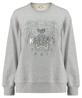 2f6d31cdef6 Kenzo Femmes Chatoyant Brillant Tigre Pull - Gris