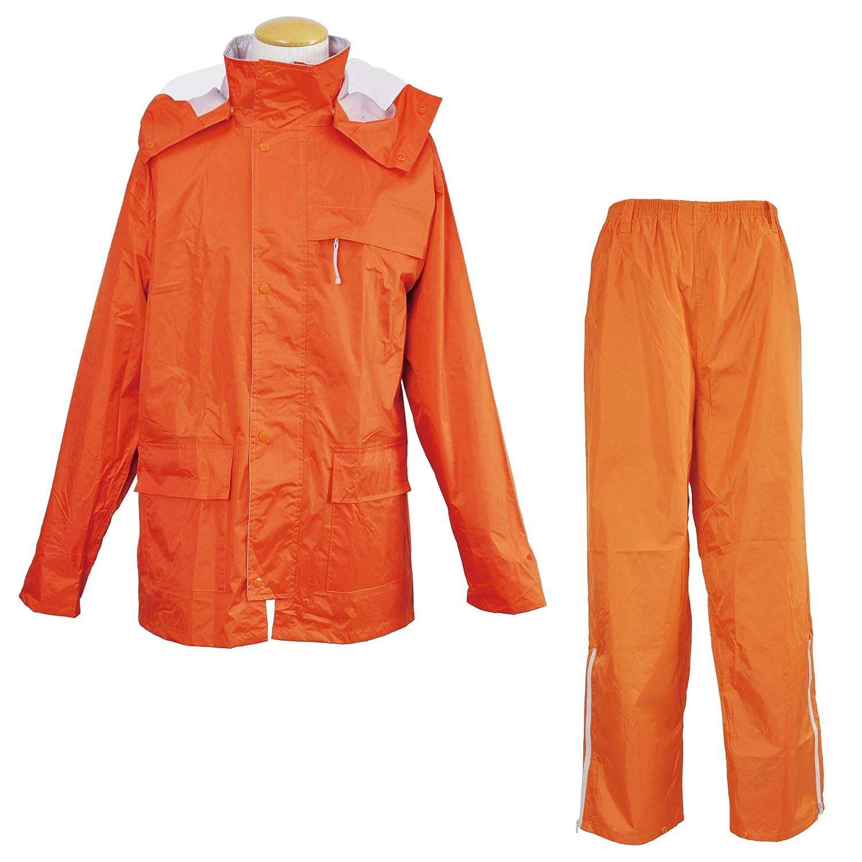 コヤナギ 【耐水圧:20000mm】 《二重袖/反射ワッペン/ズボン裾ファスナー》 ファンプラス FP-33 B00KKM1VWE 4L|オレンジ オレンジ 4L