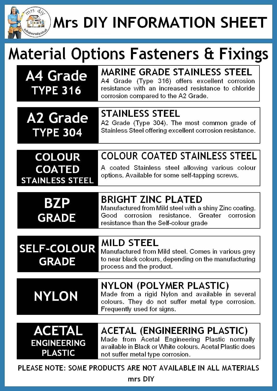 Posi Flansch selbstschneidenden Schrauben Schwarz 50/PACK selbst Farbe Grade X 6/Durchmesser x 2,5/cm L/änge
