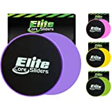 Elite Sportz Sliders for Working Out, 2 Dual Sided Gliding Discs for Exercise on Carpet & Hardwood Floors, Compact Core Glide