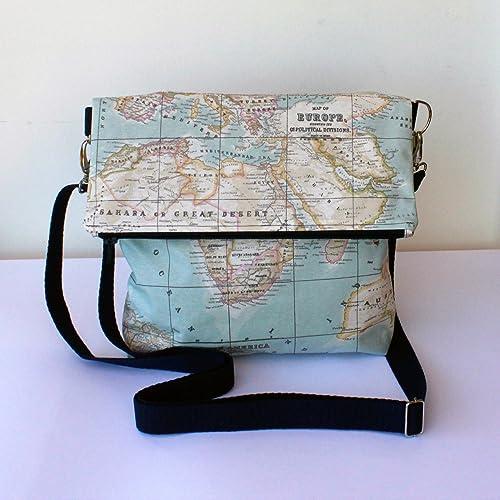 Bolso - Mochila Impermeable - La vuelta al Mundo - Bolso bandolera convertible en mochila,