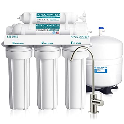52901af5314 APEC Top Tier 5-Stage Ultra Safe Reverse Osmosis Drinking Water Filter  System (ESSENCE ROES-50) - - Amazon.com