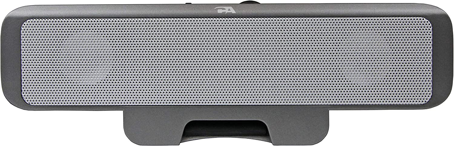 Portable USB laptop speaker - designed for computer travel by Cyber Acoustics (CA-2880),Black