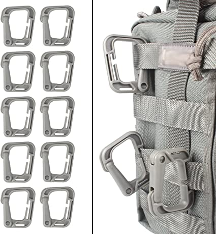 10 Outdoor Tactical Backpack D-Ring Molle Buckle Hang Clip Spring Snap Carabiner