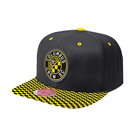 72ab30a6e6d Mitchell   Ness MLS Diamond Snapback Adjustable Hat (Columbus Crew ...