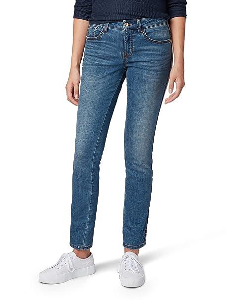 cheap price lowest discount new authentic TOM TAILOR Damen Gewaschene, Denim Fit Alexa Slim Jeans