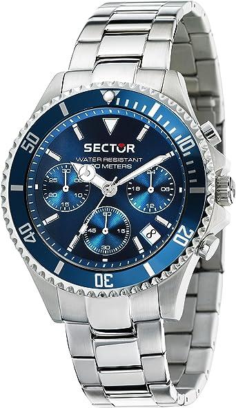 Sector no limits orologio cronografo quarzo uomo con cinturino in acciaio inox r3273661007