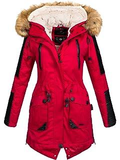 2e6018dafe1e39 Navahoo Damen Winter Jacke Winterjacke Teddyfell warm gefüttert Kunstleder  Einsätze B400