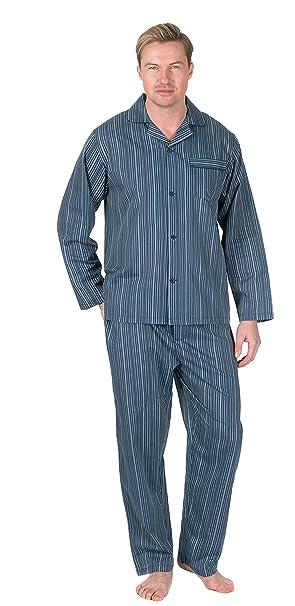 para Hombre diseño de Rayas/Cuadros Tejido polialgodón Primavera Verano Conjunto Pijama Pijama, Botón