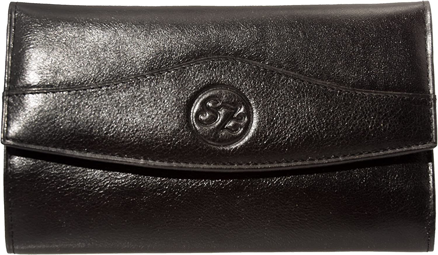 Black SZ Collection Womens Large Wallet
