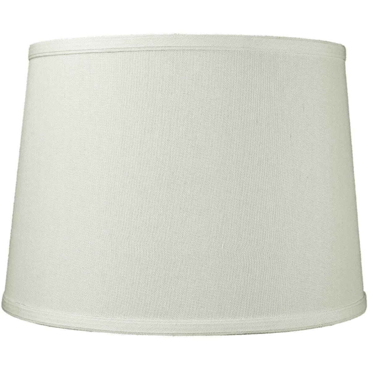 12x14x10 Light Oatmeal Linen Drum Lampshade with Brass Spider fitter By Home Concept - Perfect for table and Desk lamps - Medium, Off-white