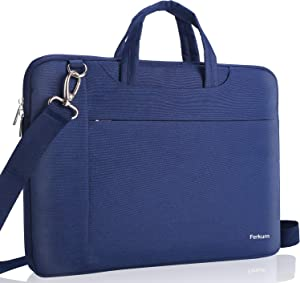 """Ferkurn 17 17.3 Inch Laptop Shoulder Sleeve Water Repellent Case with Handle Compatible with MacBook 17.3""""/ Acer/ASUS/XPS/HP/Microsoft, Protective Computer Carrying Bag for Men and Women,Blue"""