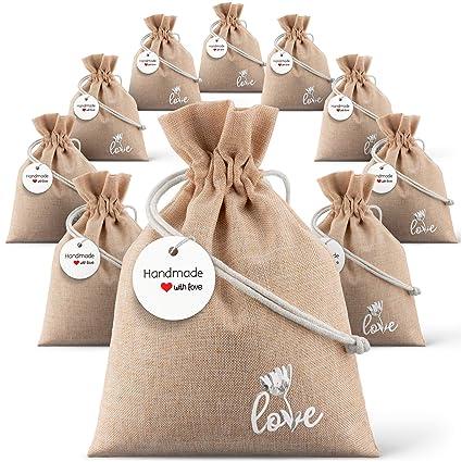 Amazon Burlap Bag With Drawstring 5 X 7 For Rustic Wedding