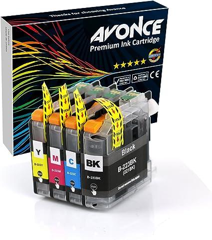 Avonce - Juego de 4 cartuchos de tinta compatibles para Brother ...