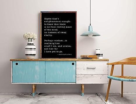 Inspirational Life Quote Art Print Home Decor Wall Art Poster