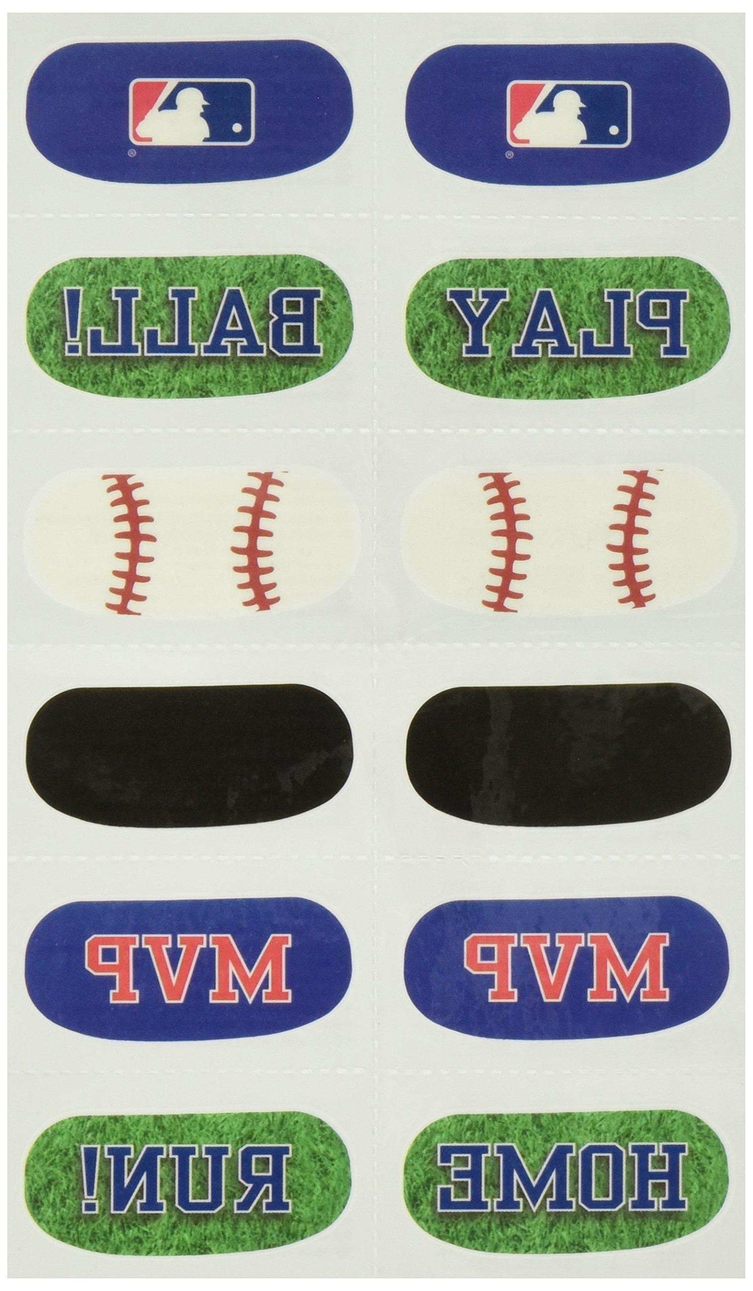 Amscan (Amsdd Baseball Dream Major League Face Tattoos Favour, 144 Pieces