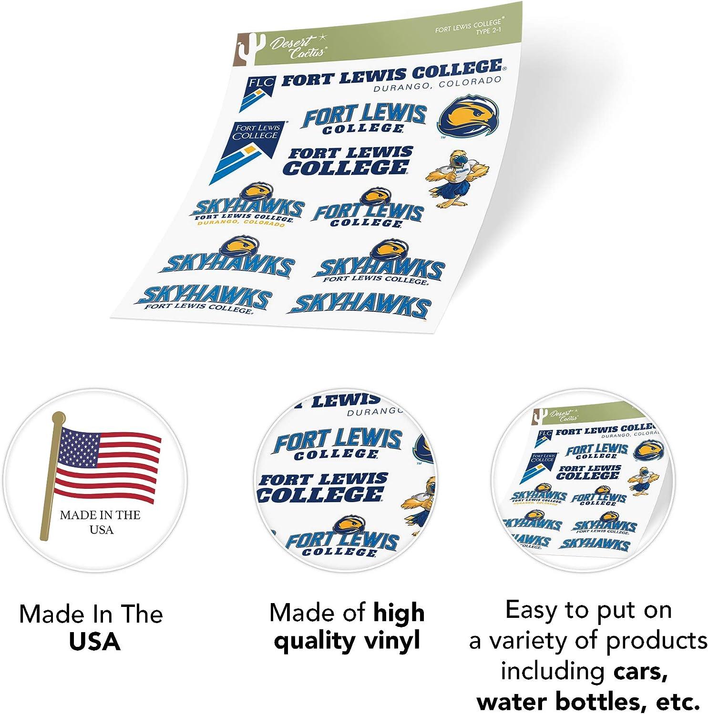 Fort Lewis College Skyhawks NCAA Sticker Vinyl Decal Laptop Water Bottle Car Scrapbook Type 2 Sheet