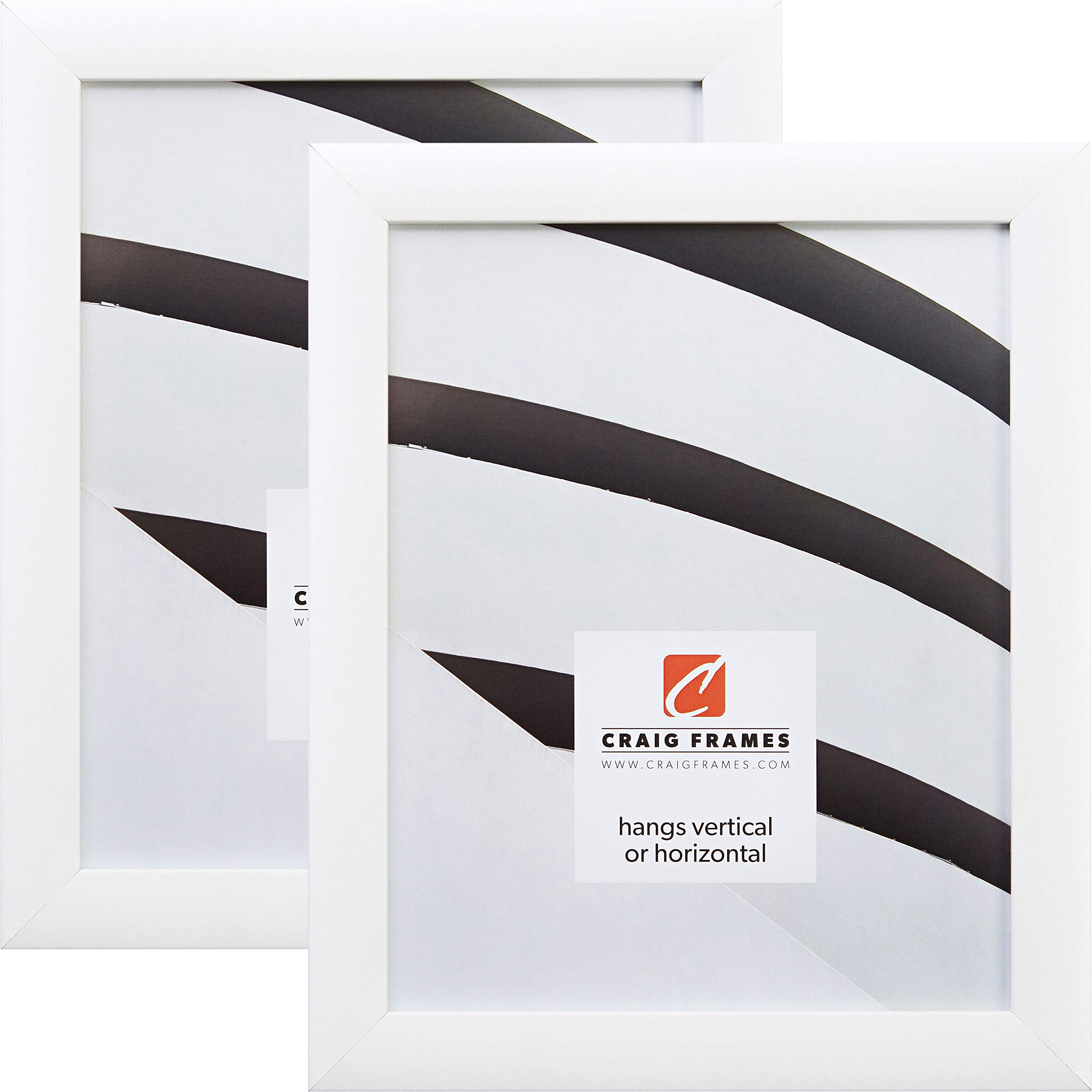 Craig Frames 23247812 20 x 30 Inch Picture Frame, White, Set of 2 by Craig Frames