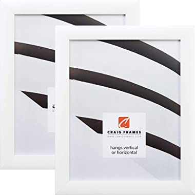 Craig Frames 23247812 20 x 27 Inch Picture Frame, White, Set of 2