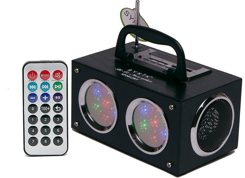 Amazon: Sykik Mini Bluetooth Boom Box With Dancing Light Show:  Electronics