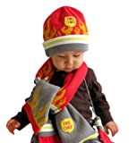 Kidorable Red Fireman Soft Hat/Scarf/Glove Set for