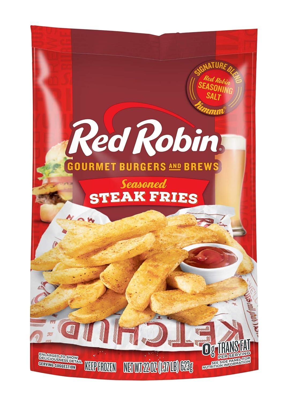 Red Robin Seasoned Steak Fries, 22 oz (Frozen)