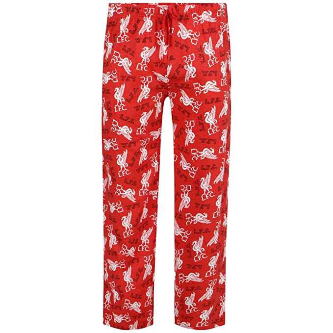 Football Clubs - Pantalón de pijama - para hombre Negro LIVERPOOL RED X-Large