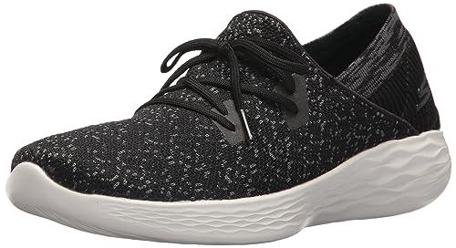 7cd151a3210 Skechers You-14964 - Zapatillas deportivas para mujer, Negro/Blanco, 5 M