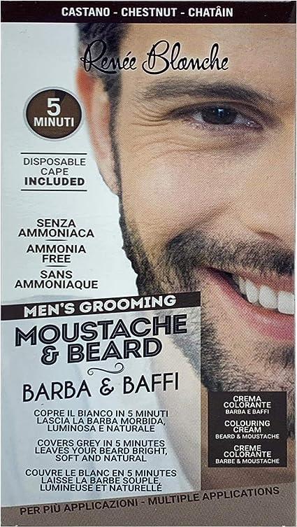 Renee Blanche Coloración para barba y bigote, color castaño 2 x 20 ml