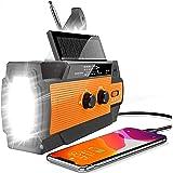 【2020 Newest Version】 Emergency Hand Crank Radio Flashlight Solar Radio Portable 4000mAh Power Bank AM/FM/NOAA Weather Radio